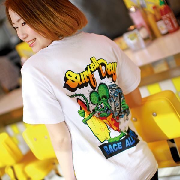 Rat Fink モンスター Tシャツ Surf all Day を購入するにはコチラ !